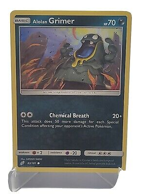 Alolan Grimer 83/181 Pokemon Sun & Moon Team Up Darkness LP Used See Pictures