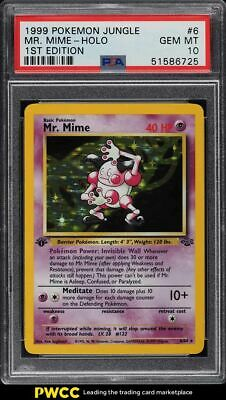 1999 Pokemon Jungle 1st Edition Holo Mr. Mime #6 PSA 10 GEM MINT