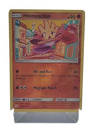 Hitmonchan 74/181 Pokemon Team Up Reverse Holo Fighting LP Used See Pictures