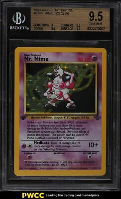 1999 Pokemon Jungle 1st Edition Holo Mr. Mime #6 BGS 9.5 GEM MINT