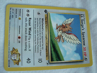 Pokemon Lt. Surge's Spearow Gym Heroes 1st Edition #83