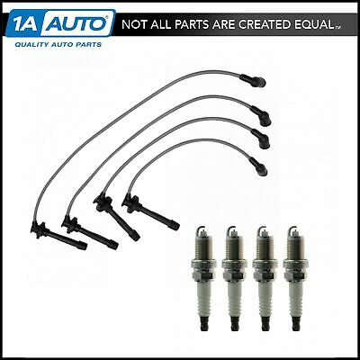 Platinum Spark Plugs & Ignition Wires Kit For 92-97 Integra Honda Civic Del Sol