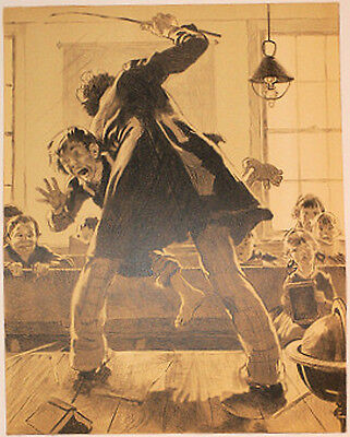 "Norman Rockwell - Signed Ltd Ed  Print 18/200 ""the Caning"" - Corporal Punishment"