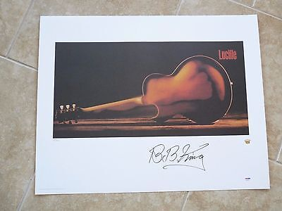 Bb King Lucille Signed Autographed Lithograph Poster Psa Certified #58 Of 685