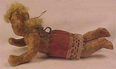 Antique Wax Angel Christmas Ornament Composition Red To Restore # 12