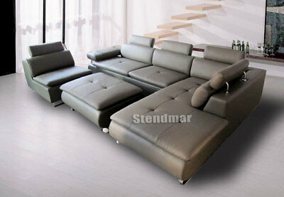 4pc Modern Design Sectional Leather Sofa S1009w