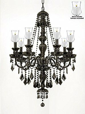 """Crystal Chandelier Lighting Chandeliers W/ Candle Votives H30"""" W26"""" - For Indoor"""