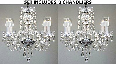 Set Of 2 - Chandeliers Lighting W/ Candle Votives!