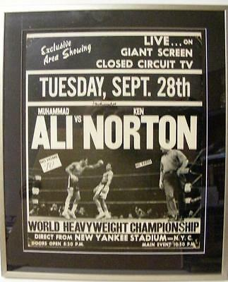 Muhammad Ali Vs Ken Norton Original 1976 Yankee Stadium Boxing Poster Psa/dna