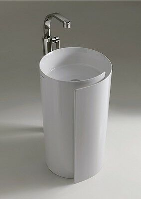 Flaminia Roll Washbasins 44 Standing Coloumn-basin In Ceramic Mr44c