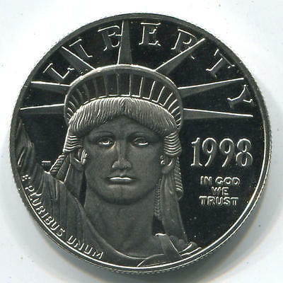 1998 W 1 Oz, $100 Platinum Eagle, Proof. West Point Mint.