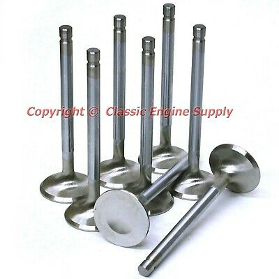 """New Stainless Steel 1.625"""" .100"""" Long Exhaust Valve Set Sb Chevy 400 350 327"""