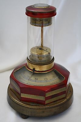 Antique Germany Instrument Compass Thermometer Barometer Hygrometer Munchen
