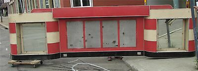 Stunning Mid Century Diner Soda Shoppe Shop Red & White Backsplash W Mirrors