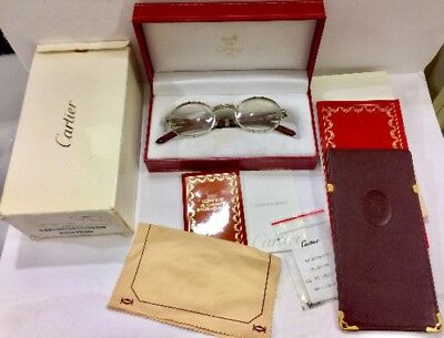 Giverny Cartier Wood Platinum Palisander Eye Or Sunglasses Frame Authentic Vint