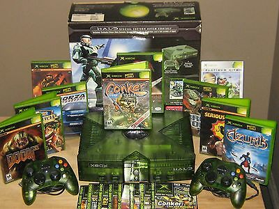 Microsoft Original Xbox Halo Special Edition Green Console/system