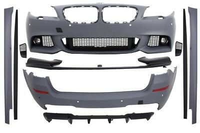 Complete Body Kit Bmw F11 5er 11-13 M-performance Look Bumper Diffuser+fog Lamps