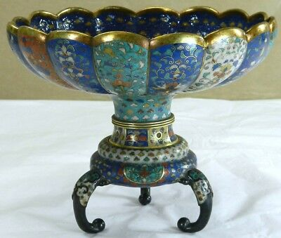 Chinese Cloisonne Scalloped Bowl