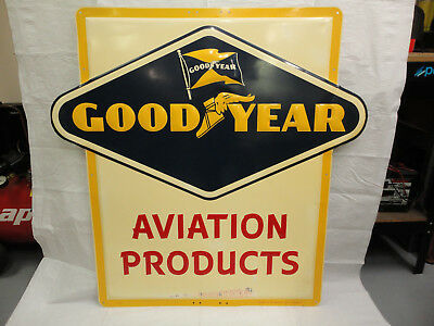 Vintage Good Year Aviation Products Sign