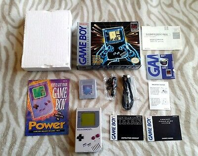 Nintendo Game Boy Original Console Mint Dmg-01 Gameboy Classic *nib* Box Clean