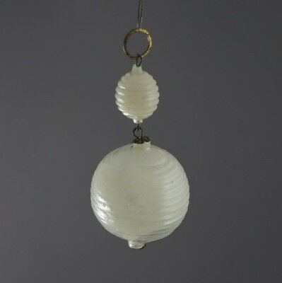 Antique Christmas Glass Ornament - Wax Filled, Ca. 1920  (# 8979)