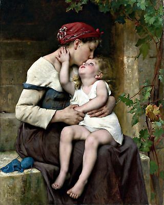 Печатные Mother with Child by Léon