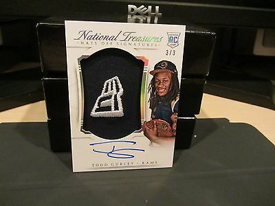 national treasures rookie hats off new era autograph todd gurley 3/3 2015