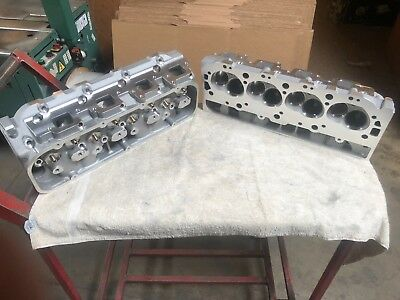 Chevy 396 427 454 496 502 Bbc Pair (2) Bare Aluminum Heads Oval Port 540 572 New