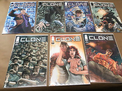 Clone 7 Issue Run 2-8 Image 1st Print Set Robert Kirkman Skybound 2 3 4 5 6 7 8