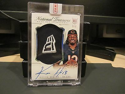 national treasures new era hats off rookie autograph bears kevin white 3/3 2015