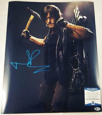 Norman Reedus Daryl Dixon Signed 16x20 Photo The Walking Dead Bas Coa 306