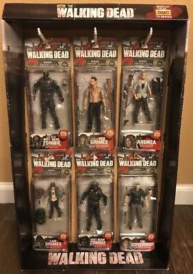 New Amc The Walking Dead Series 4 Action Figures Mcfarlane Toys Display Box