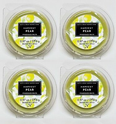 4 Cakes / 16 Tarts Total Bath & Body Works Harvest Pear Scented Wax Melt