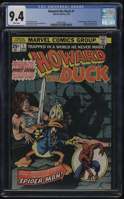Howard The Duck #1 Cgc 9.4 W Pages 1st Beverly Switzler Full Appearance