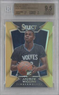 2014 Panini Select Gold Prizm/10 #100 Concourse Andrew Wiggins Bgs 9.5 Gem Mint