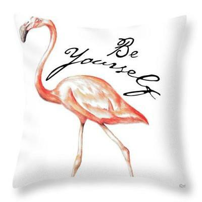 Be Different Flamingo Ii Throw Pillow