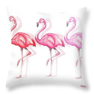 Flamingo Trio Ii Throw Pillow