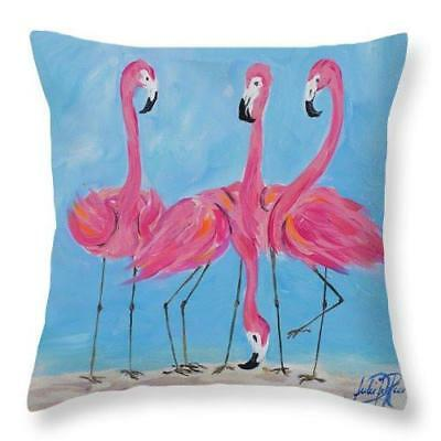 Fancy Flamingos Ii Throw Pillow