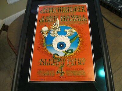 Jimi Hendrix Flying Eyeball Rick Griffin Framed Original 1968 2nd Print Poster