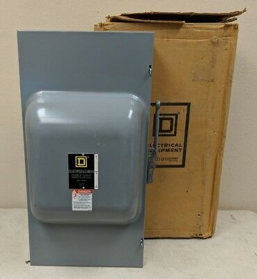 *new In Box* Square D 82254n Double Throw Safety Switch, Non Fusible, Dpdt 240 V