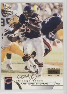 2002 Pacific Premiere Date/36 #82 Anthony Thomas Chicago Bears Football Card
