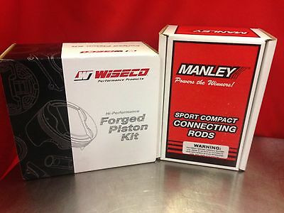 Wiseco Dodge Neon Srt4 Turbo 87.5mm Pistons With Manley H-beam Connecting Rods