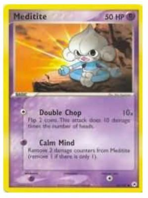 Pokemon MEDITITE 65/101 COMMON NM CARD   HIDDEN LEGENDS