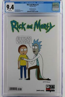 Rick And Morty #1 -near Mint- Cgc 9.4 Nm -oni Press 2015- Roiland Variant Cover!