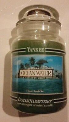 Yankee Candle Ocean Water Black Band Jar 22 Oz Candle Rare Collectors Item New