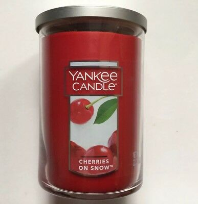 Yankee Candle Cherries On Snow 22 Oz 2-wick Large Tumbler Htf Scent