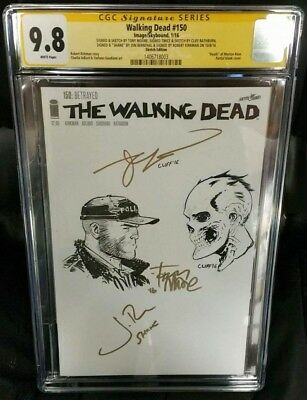 Walking Dead 150 Sketch Tony Moore! Cliff Rathburn! John Bernthal! Kirkman!