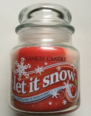 Yankee Candle Let It Snow 13 Oz Swirl Jar Sparkling Snow Cherries On Snow Vhtf