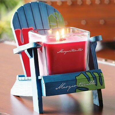 Lot Yankee Candle Margaritaville Palms Holder W/jamaican Vacation 2 Wick Candle
