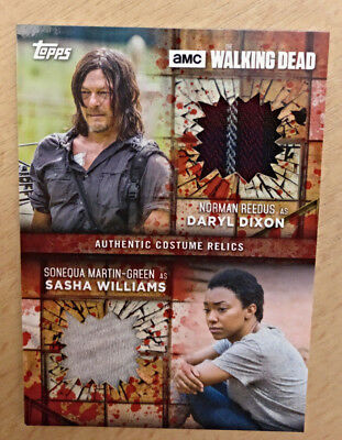2017 The Walking Dead Season 7 Dual Relics Blood #drds Daryl & Sasha 1/1